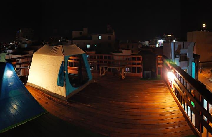 觀景天台帳篷