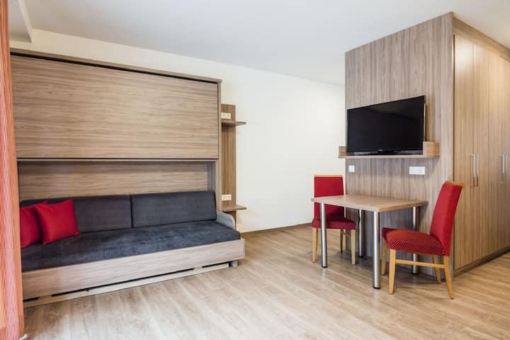 Appartement près du domaine skiable avec balcon et parking