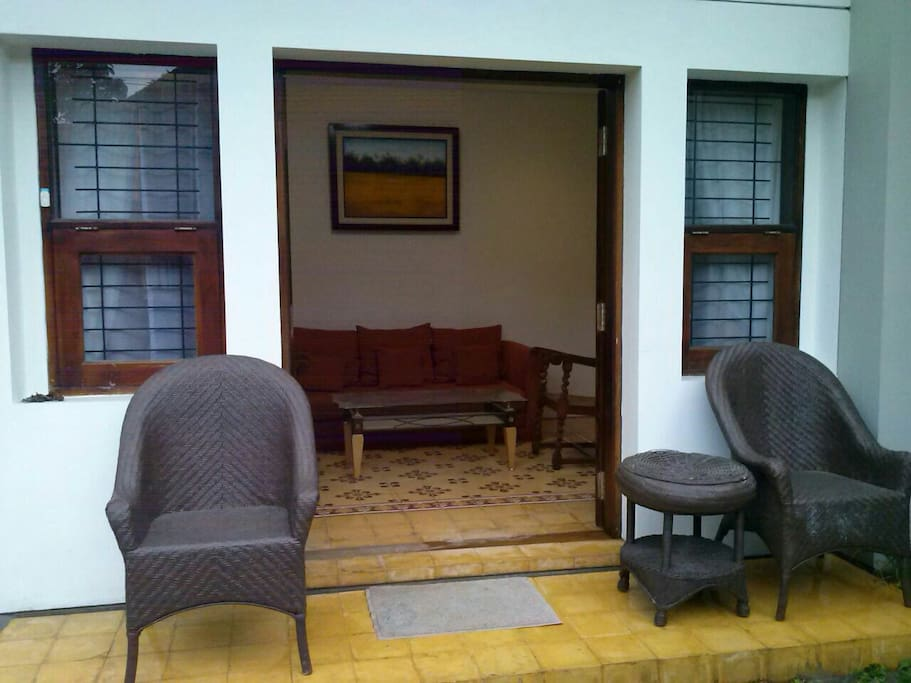 Teras infront of main entrance