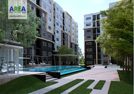 Pool View Furnished Kathu Studio - Kathu - Condominium