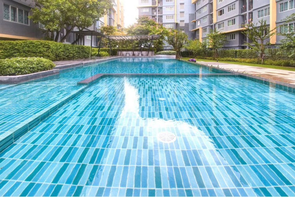 Nice & Big swimming pool by the Gym looking to your balcony.