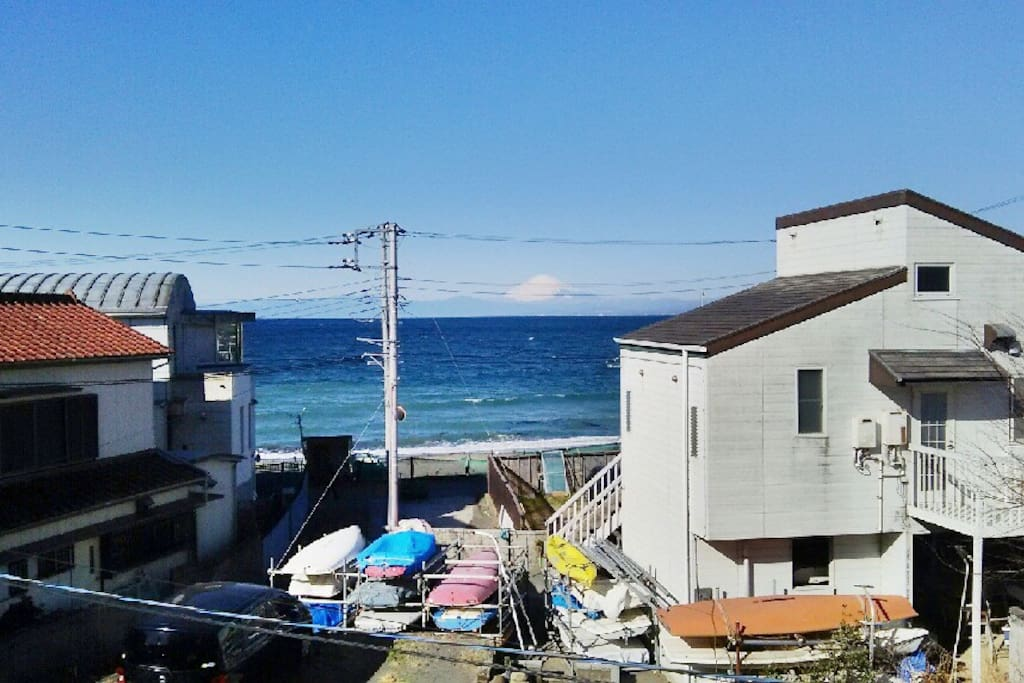In the winter you can see Mt. Fuji from your window almost every morning.