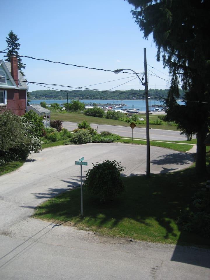 View from our Street onto the bay and Marina, near Kelso Beach.