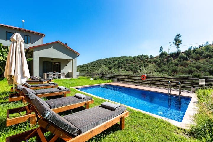 Serene Luxury Villa with Vineyard & Private Pool