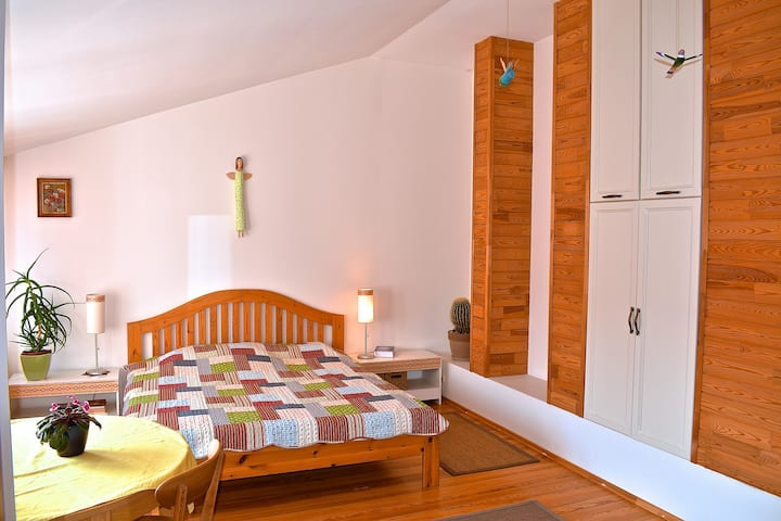 Spacious & lofty private BR by the beach & forest