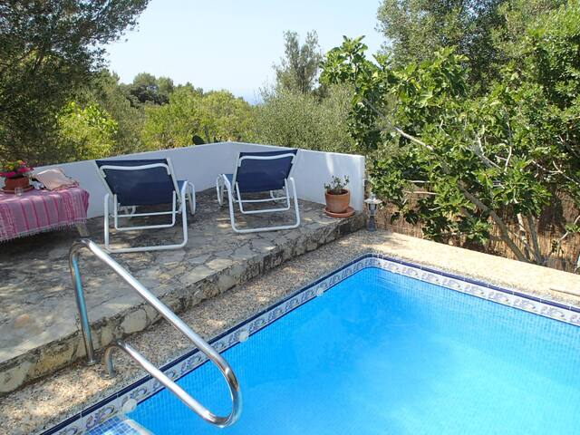 Charming cottage with pool & view - Galilea - Casa