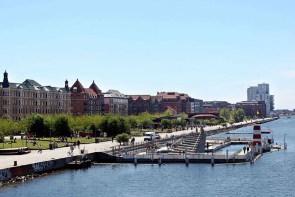 Islnds Brygge harbour front with