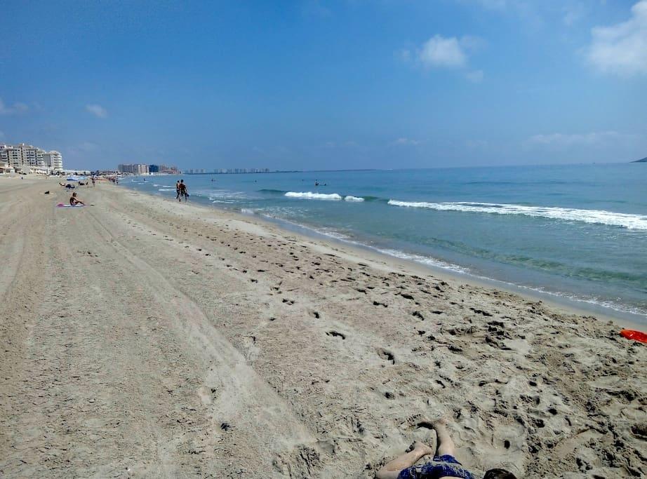 Playa del Mediterraneo mirando al Norte