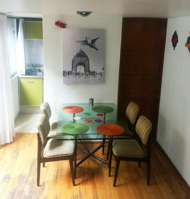 Dining Room with adjoining kitchen