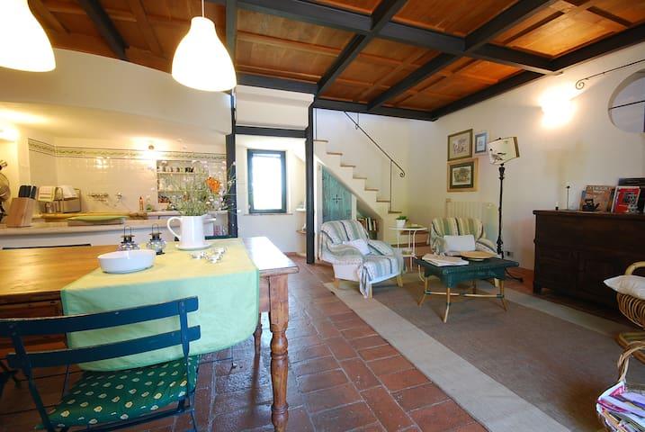 "Romantic flat with private garden ""Crete Senesi"""