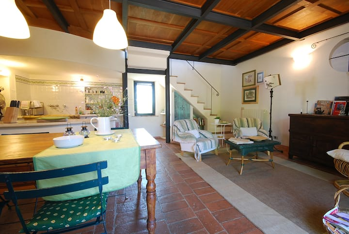 "Romantic flat with private garden ""Crete Senesi"""