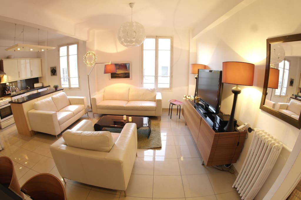 Nice 3 room apartment 87 yd from the port with parking - Parking port nice ...