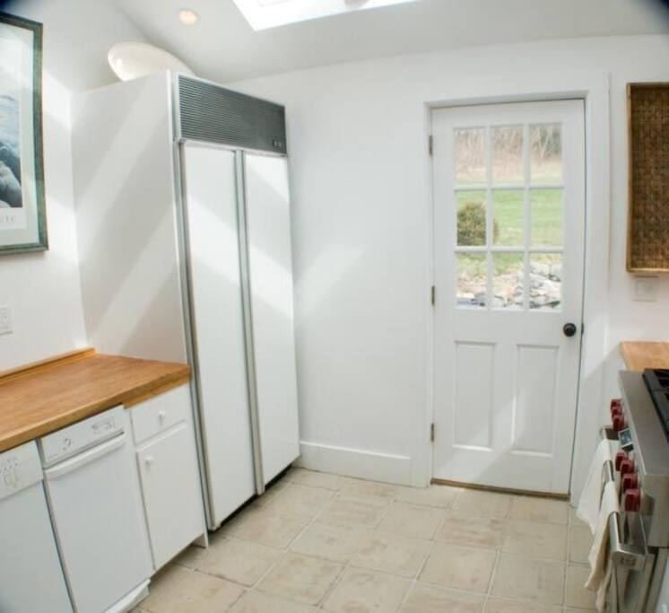 Kitchen with Sub-Zero refrigerator