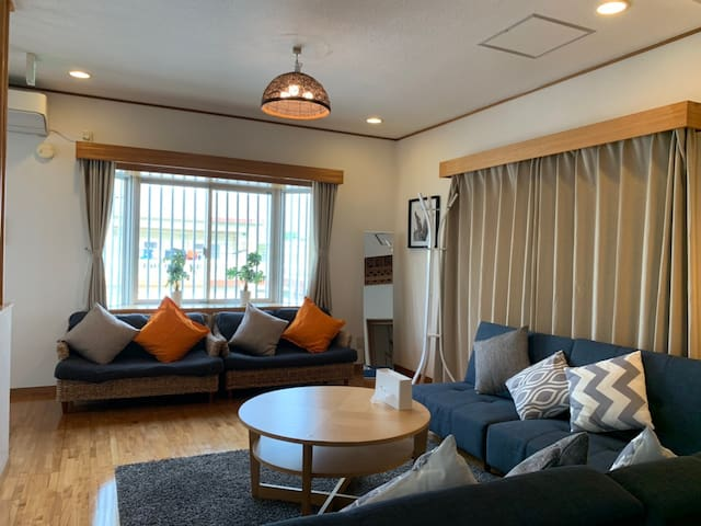 Okinawa Chatan/30sec to coast/Resort house/WiFi/5X