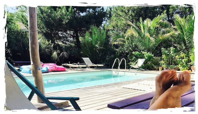 Cabane 36,  piscine  chauffée. - Lège-Cap-Ferret