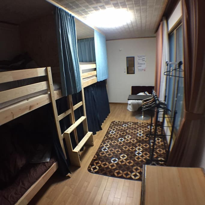 Bunk bed dormitory (4 people)