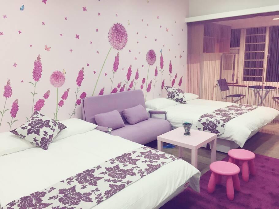 紫色璀璨房