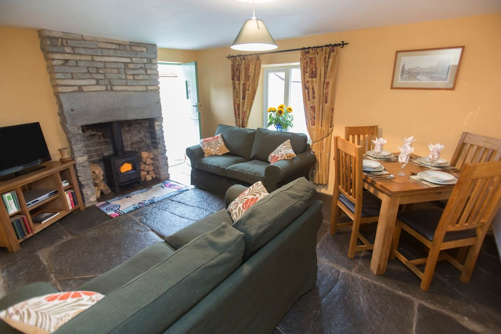 Cosy sitting room in No 1 Withy Cottage