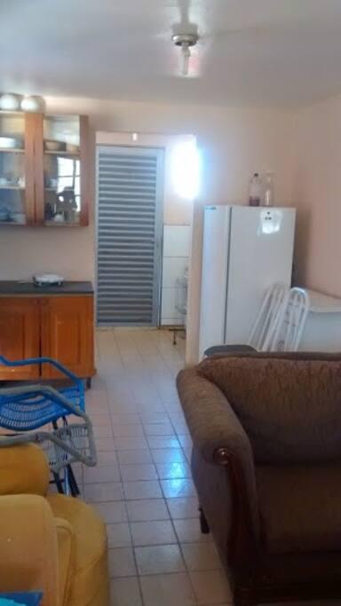 Porta de entrada para cozinha