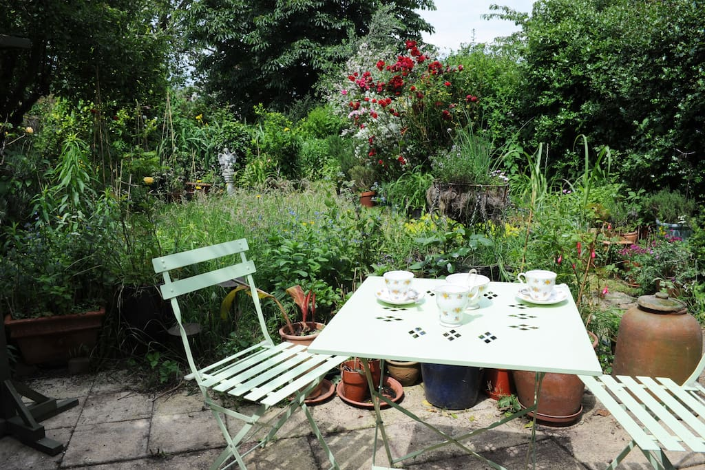 You can relax in the garden - or have a cup of tea.