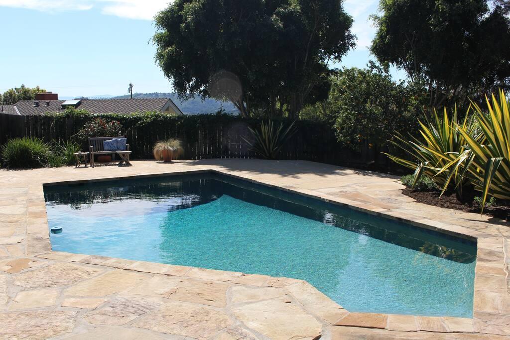 Side-yard pool.