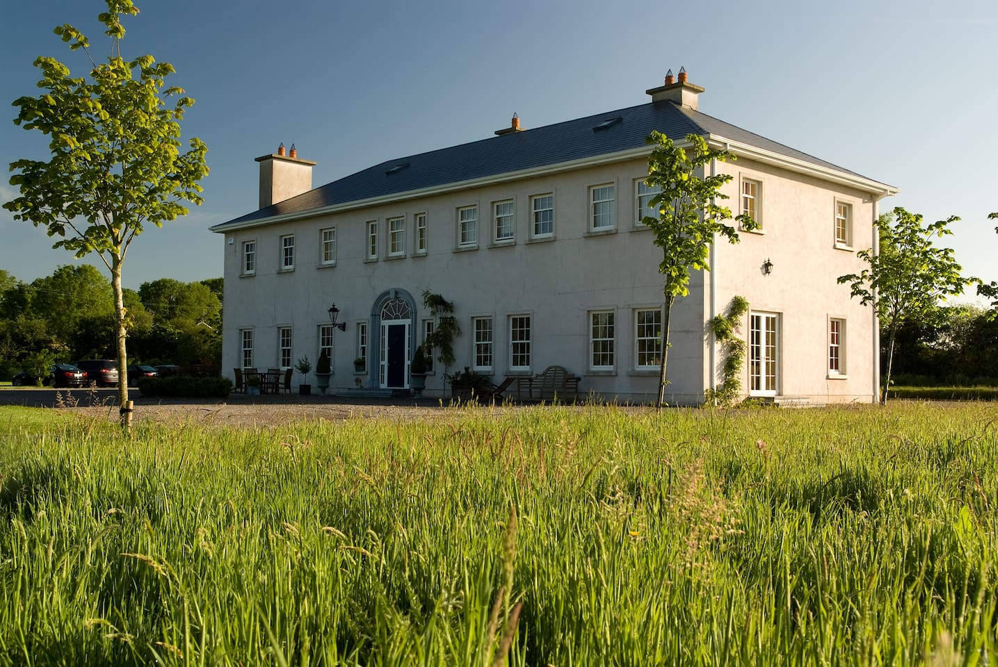 Rathellen House, Tipperary set on a large lawned garden in rural tranquility at the edge of the Glen of Aherlow