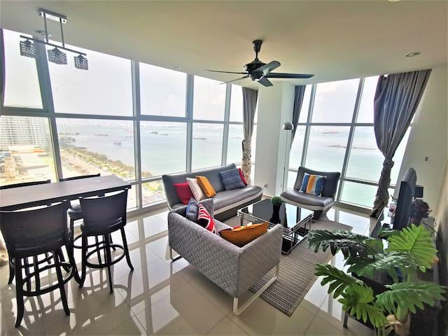 Sunrise Seaview Duplex Suite 9@Georgetown|乔治市日出全海景