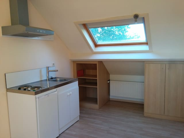 Ruime lichte studio + privé-badkamer nabij centrum - Hasselt - Andet
