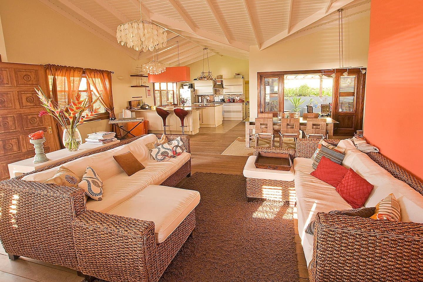 Spacious main living area photographed by our guest Tim - Feb 2015.