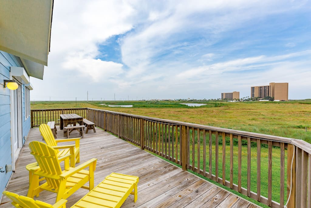 Enjoy sweeping dune views from the sunny deck.