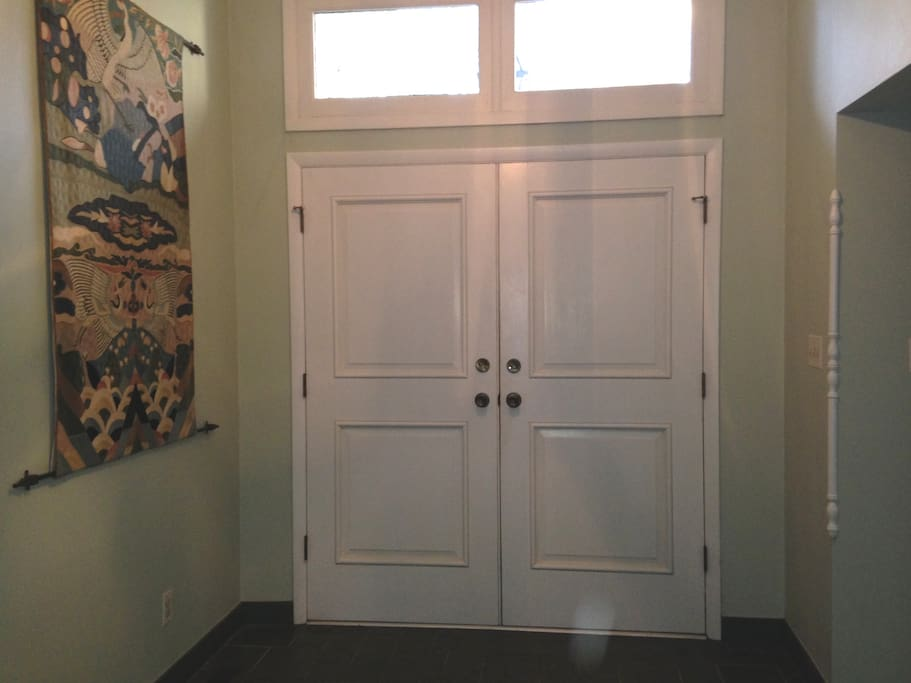 This is front hall to your private suite!