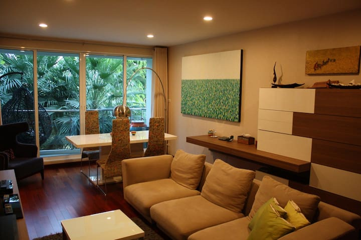 Cozy Condo, River View, 2bed/2bath - Bangkok - Flat