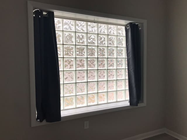 Tons of light from this privacy window and others throughout the apartment.