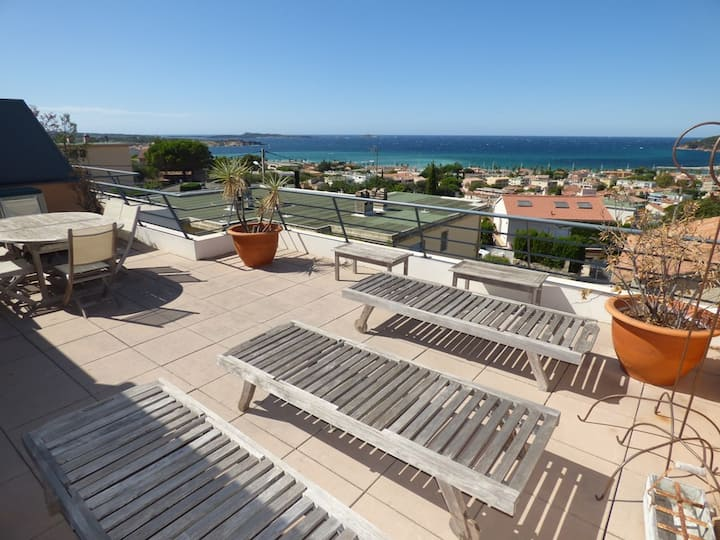 sea view, beautiful apartement of 80 m ²