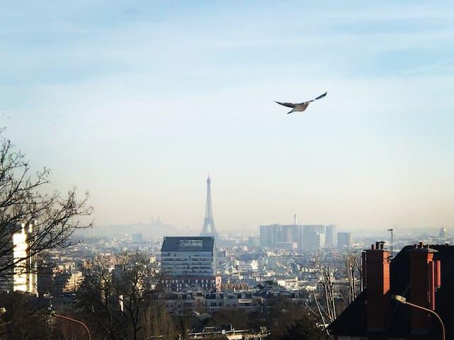 Magnifique vue à 7 minutes de Paris