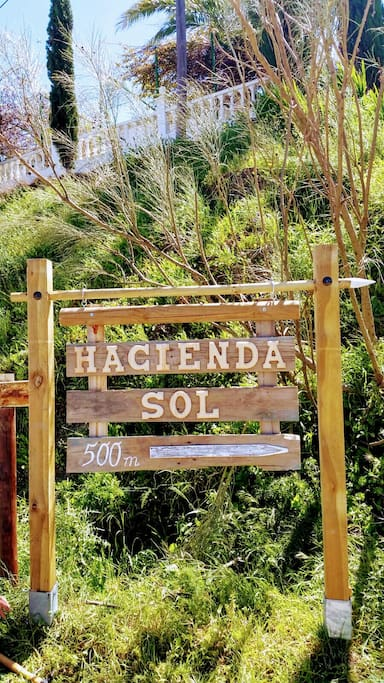 Hacienda Sol street sign - you can't get lost