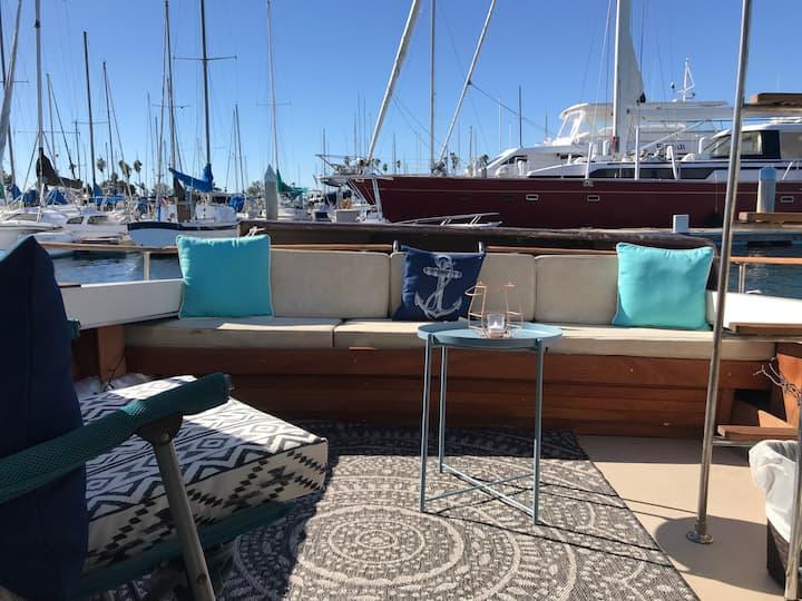 Private vintage boat in San Diego!