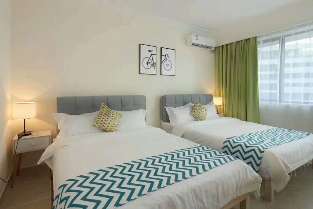 一卧室双床房