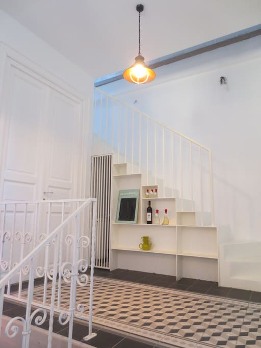 Staircase to the attic