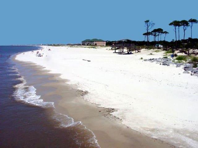 Beautiful Calm Island Beach Front