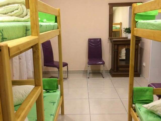 Single Bed in Male Dormitory Room. Bed  Breakfast Kamchatka Wild Tours