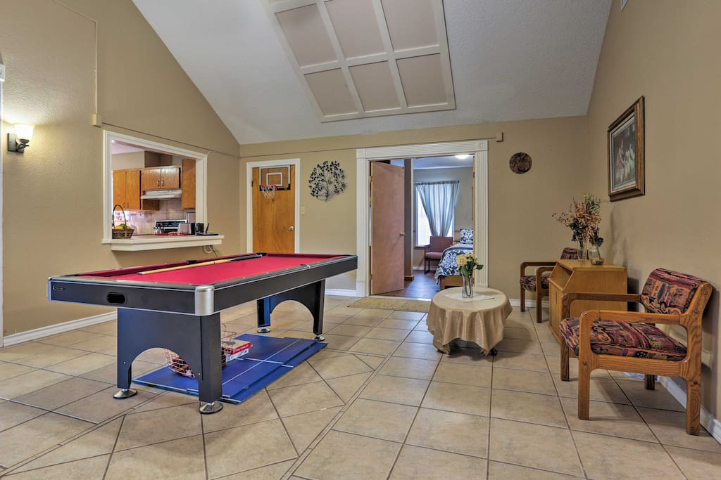 Play a game of darts or pool with your travel companions.