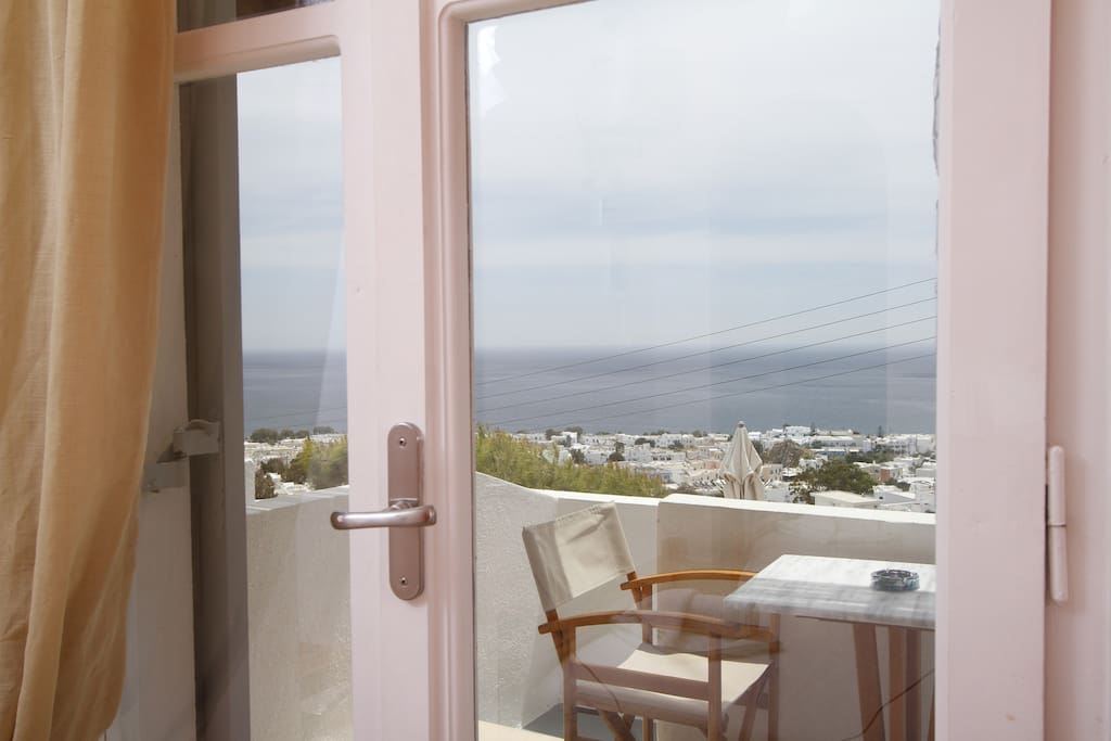 Sea view from inside the room