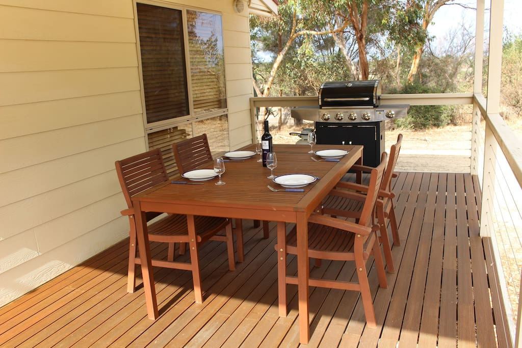 Enjoy a BBQ on the large covered deck.