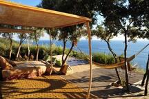Outdoor sun beds