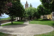 The park adjacent to the house.
