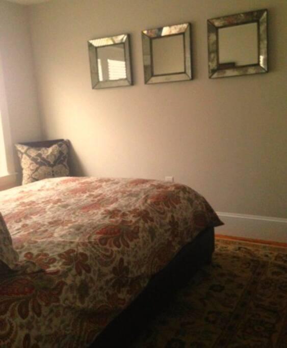 Looking into guest bedroom