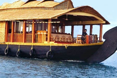 A houseboat or (boathouse) is a boat that has been designed or modified to be used primarily as a home. Houseboats in Kerala, south India, are huge, slow-moving barges used for leisure trips.