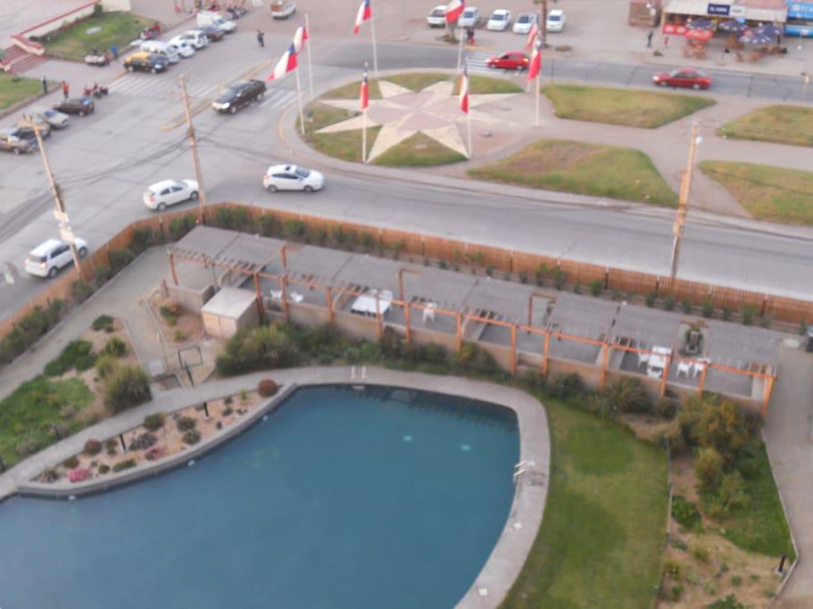 Vista desde el balcón del departamento.