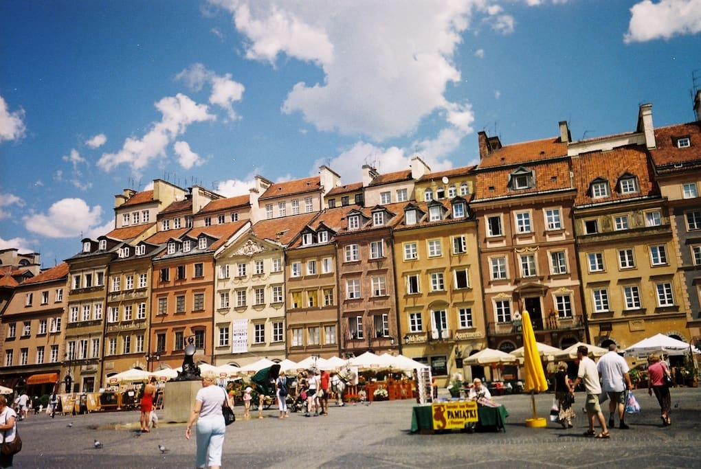 The apartment located right on the old town square but facing the river so shielded from all noice.